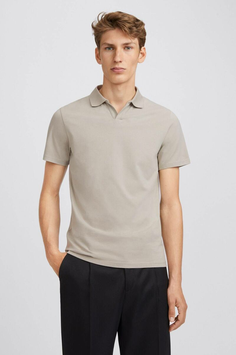 Light Sage Lycra Men Polo T-Shirt Filippa K NO MEN