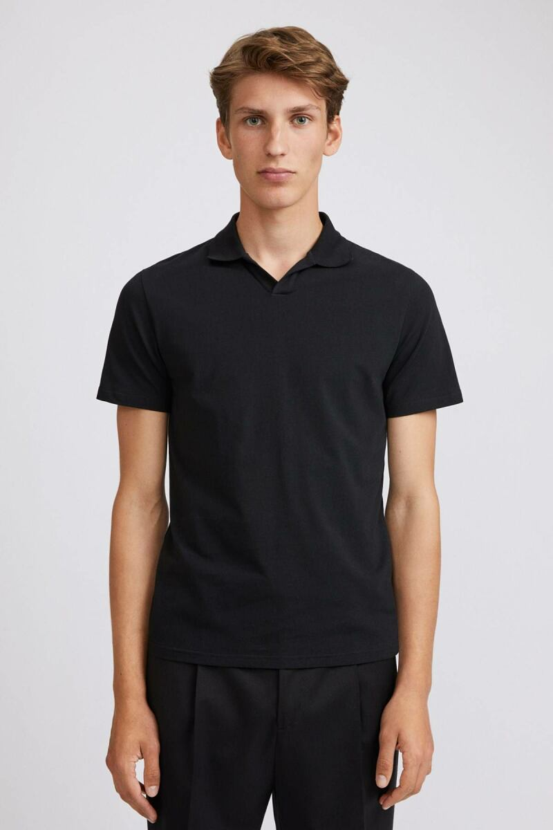 Lycra Polo Man T-Shirt Black MEN