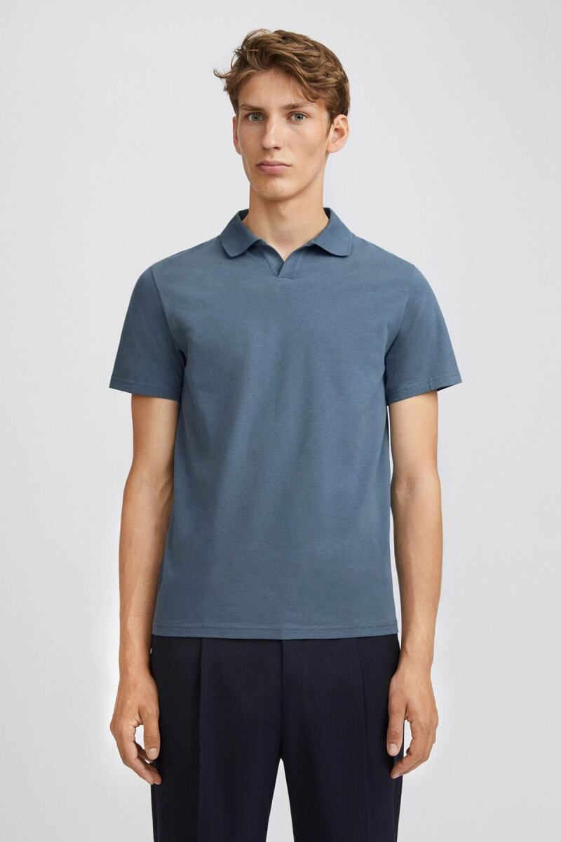 Lycra Polo Man T-Shirt Blue Grey MEN