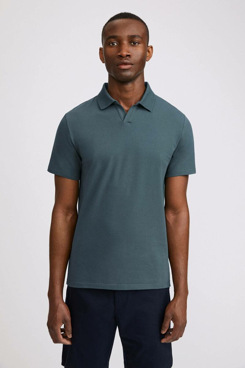 Lycra Polo Man T-Shirt Charcoal Blue MEN