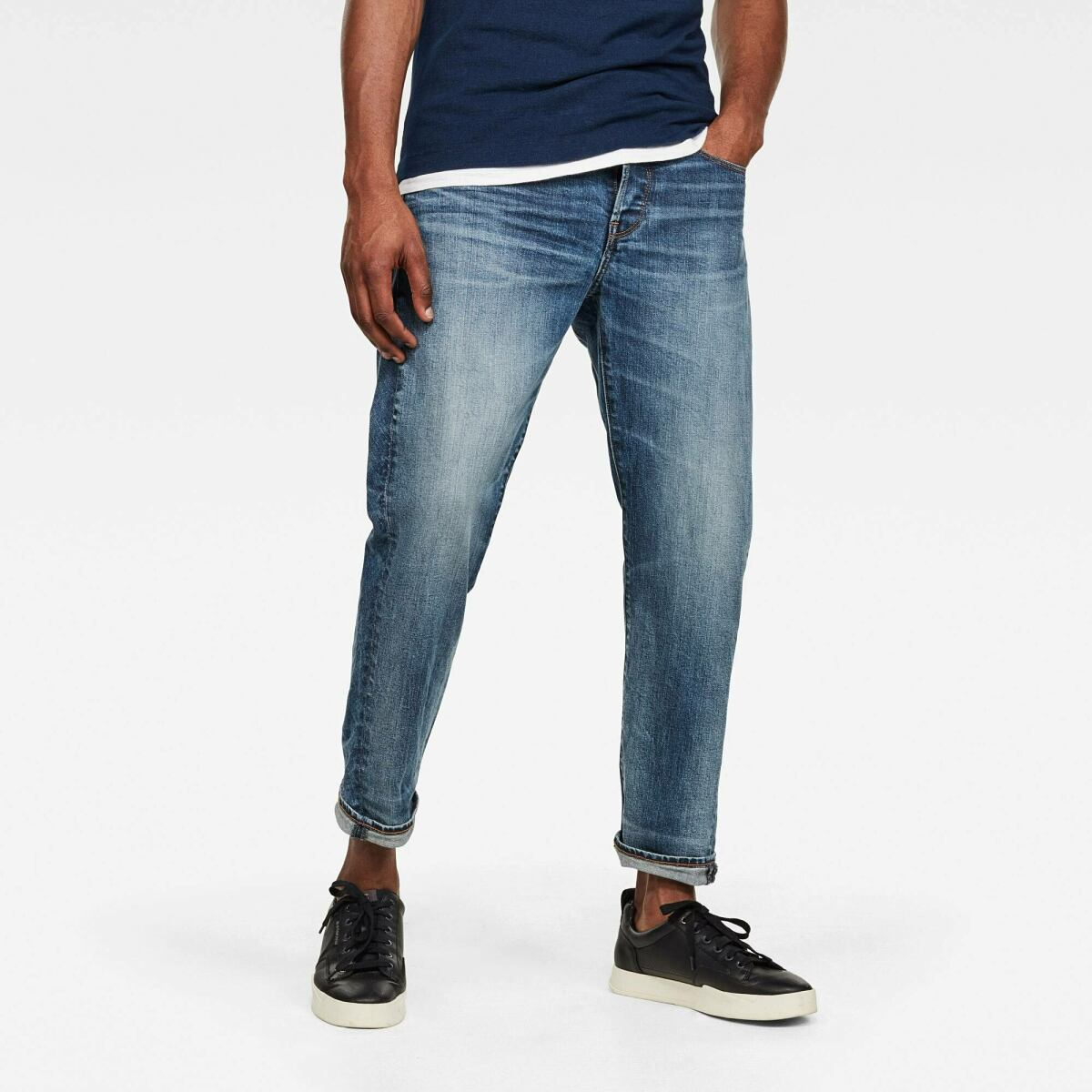 Medium blue Man Jeans 5650 3D Relaxed Tapered C Jeans G-Star MEN