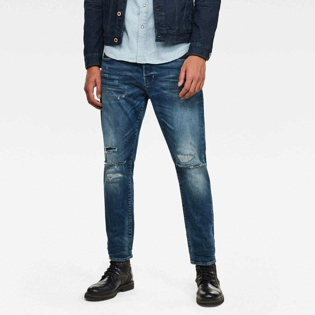 Medium blue Man Jeans Loic N Relaxed Tapered Jeans G-Star MEN