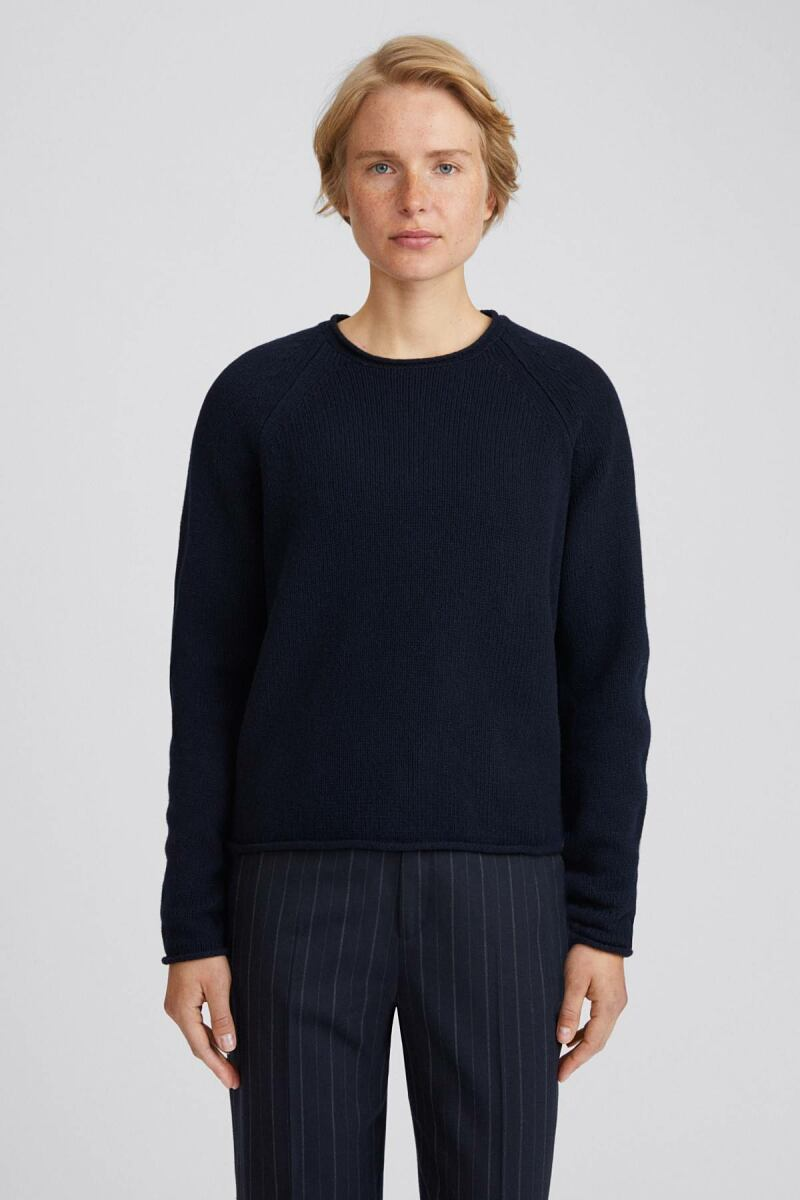 Navy Dahlia Women Sweater Filippa K NO WOMEN