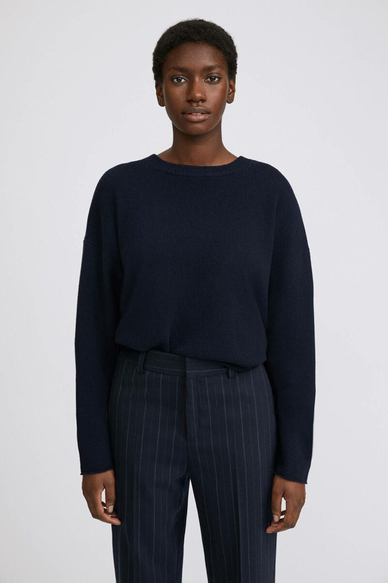Navy Lina Women Sweater Filippa K NO WOMEN