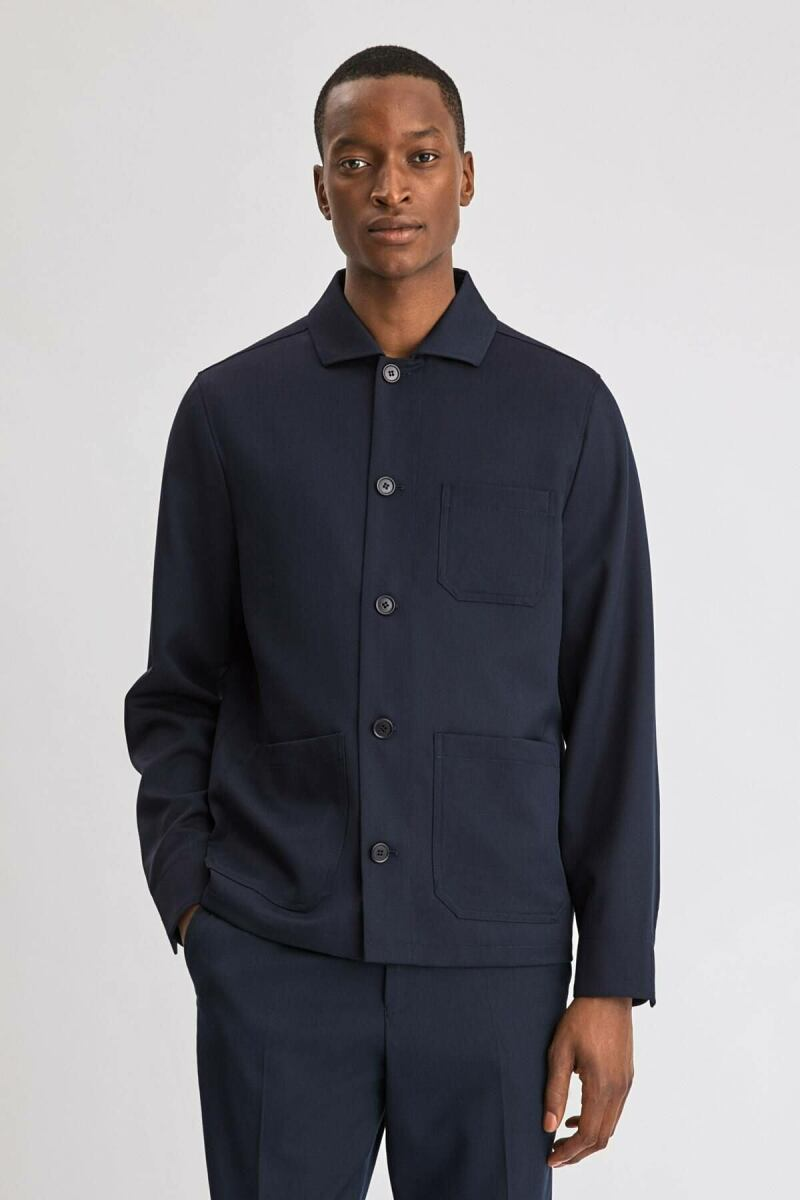 Navy Louis Men Gabardine Jacket Filippa K NO MEN