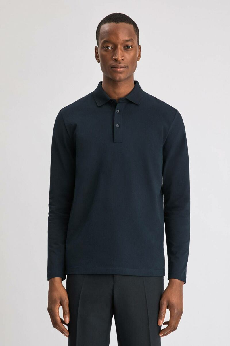 Navy Luke Men Lycra Polo Filippa K NO MEN