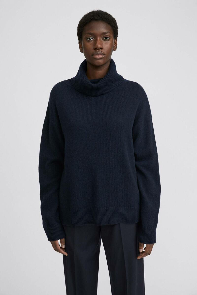 Navy Molly Women Roll-Neck Sweater Filippa K NO WOMEN