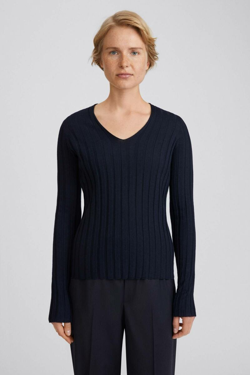 Navy Wendy Women Sweater Filippa K NO WOMEN