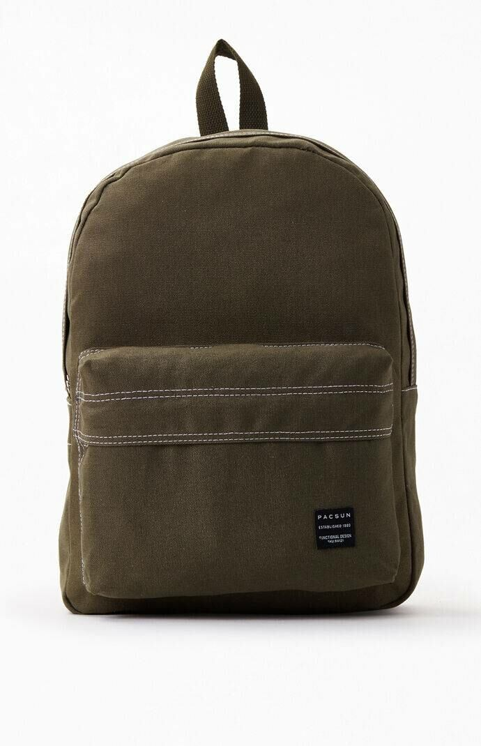 PacSun Men Stitched Backpack Green WOMEN