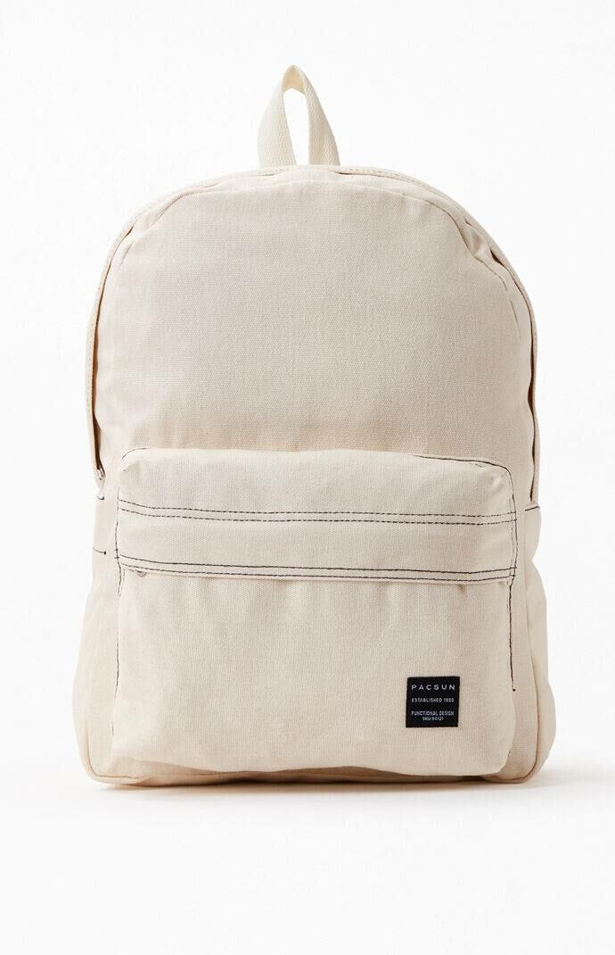 PacSun Men Stitched Backpack Ivory WOMEN