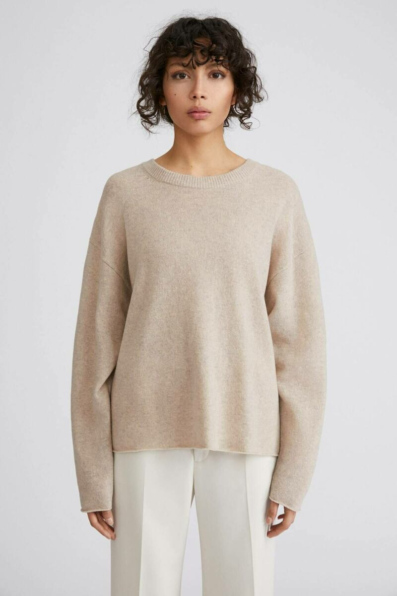 Sand Beige Melange Lina Women Sweater Filippa K NO WOMEN