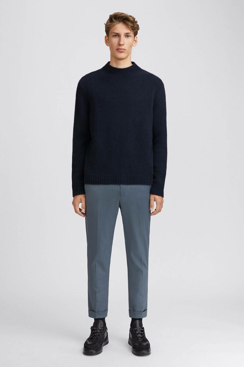 Terry Cropped Man Trouser Blue Grey MEN