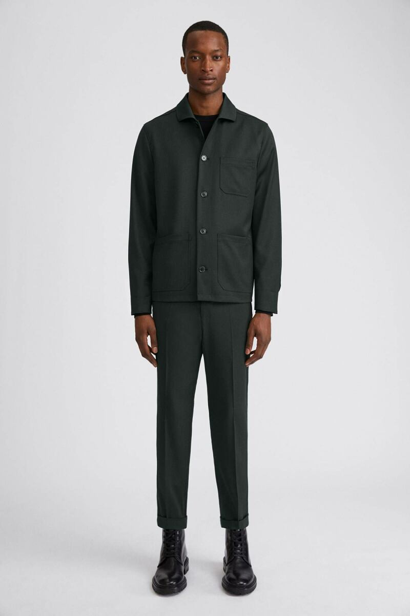 Terry Cropped Man Trouser Dark Spruce MEN