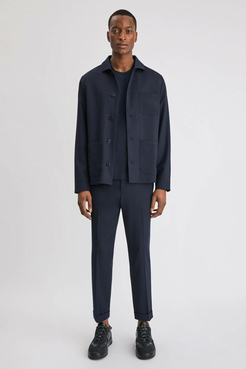 Terry Cropped Man Trouser Navy MEN