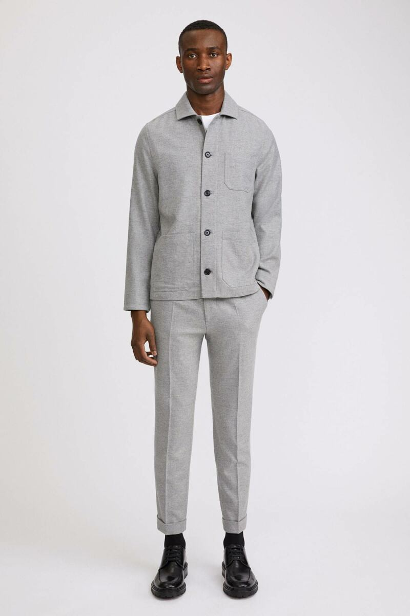 Terry Flannel Man Trouser Warm Grey Melange MEN