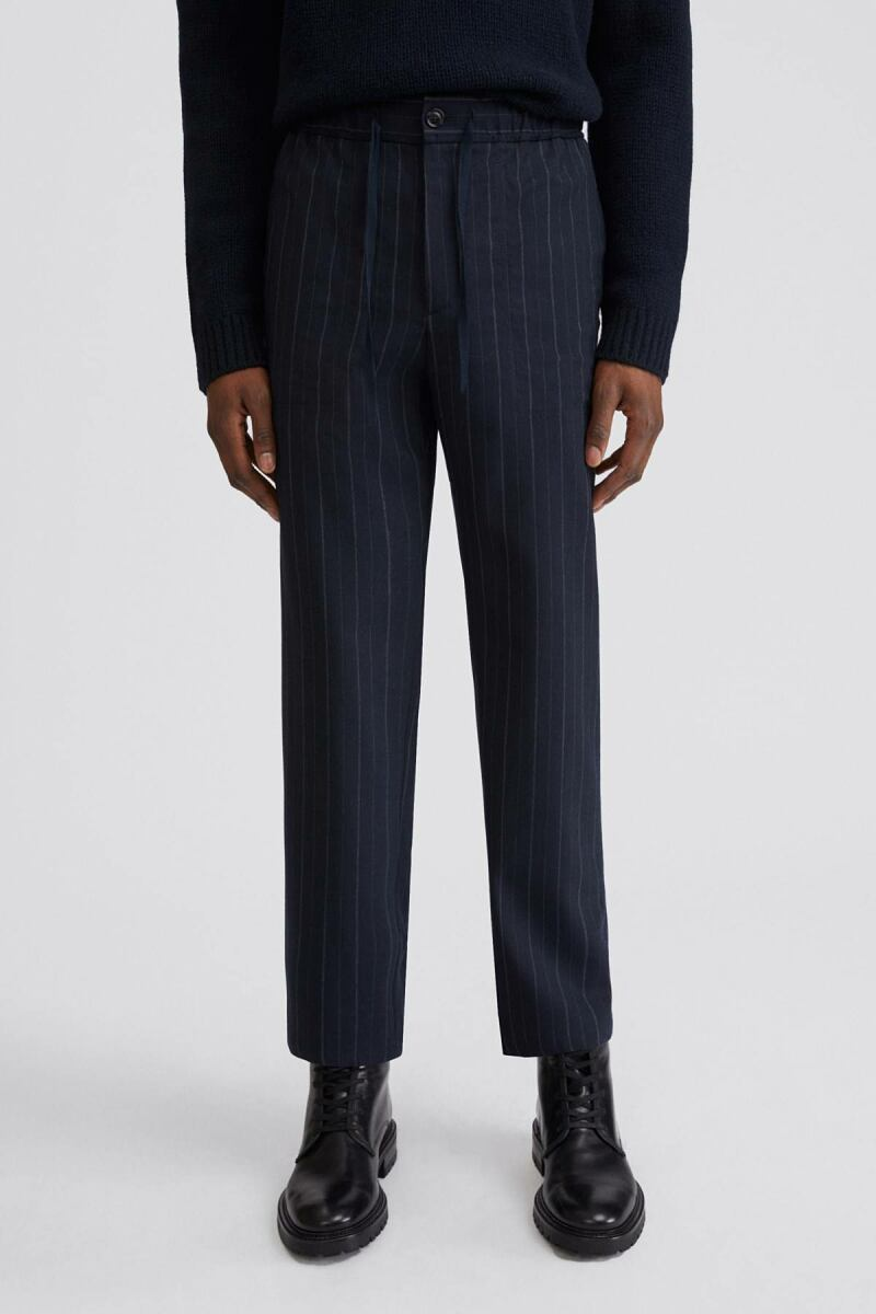 Theodore Striped Man Trouser Navy Stripe MEN