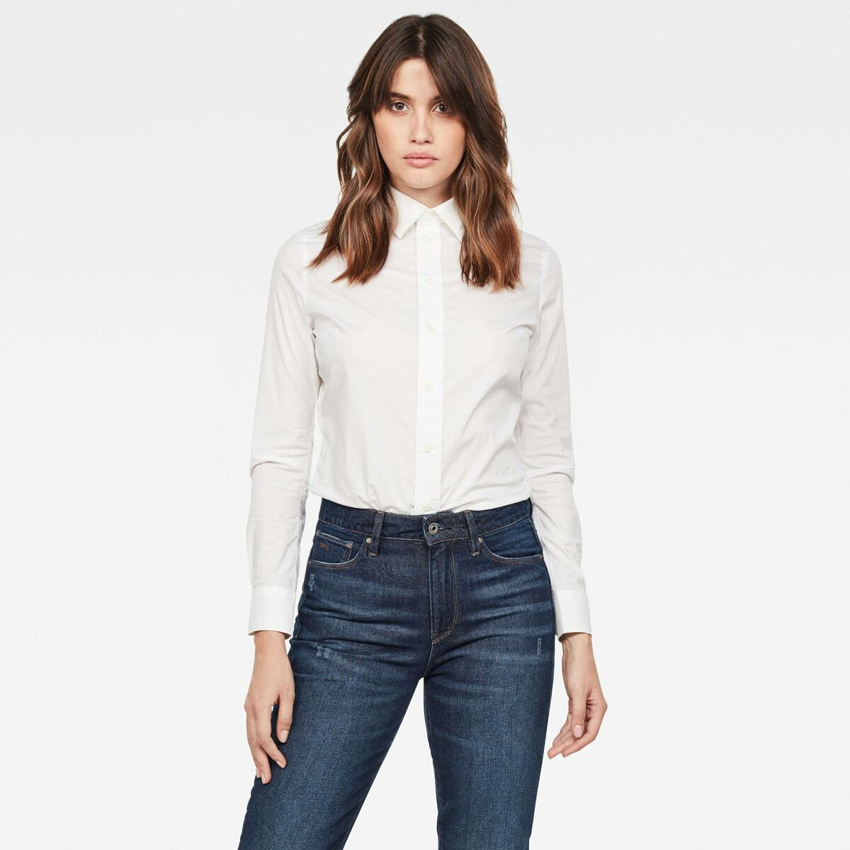 White Woman Holiday WoCore 3D Slim Blouse G-Star WOMEN