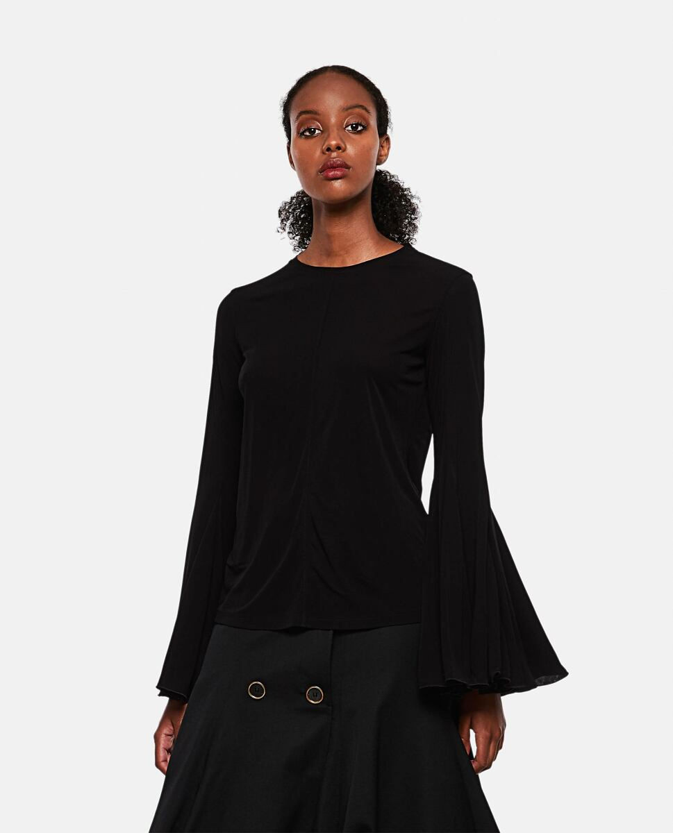 Black Blouse with draped sleeves J.W. Anderson at Biffi DE WOMEN