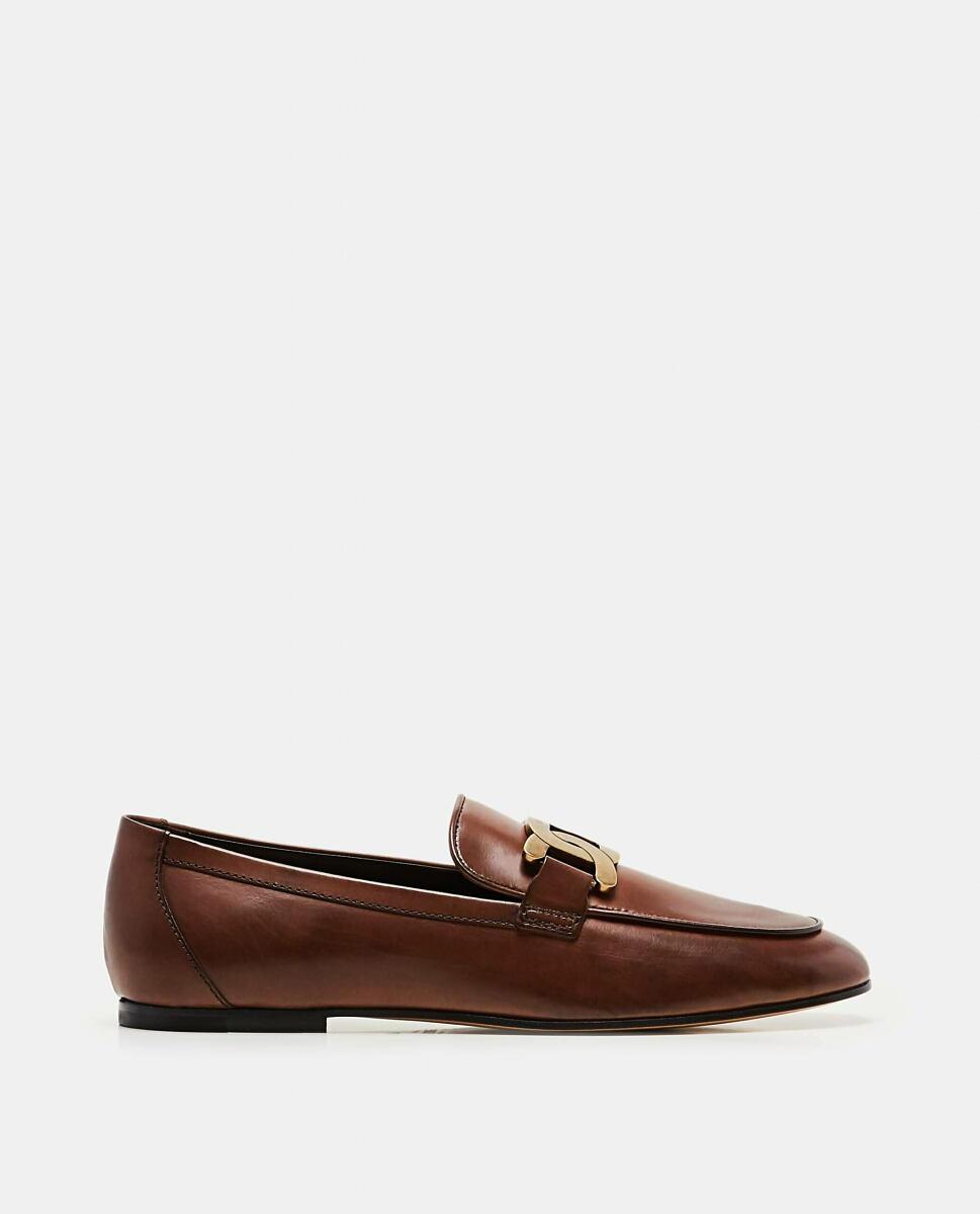 Brown KATE MOCCASIN IN LEATHER Tod's at Biffi DE WOMEN