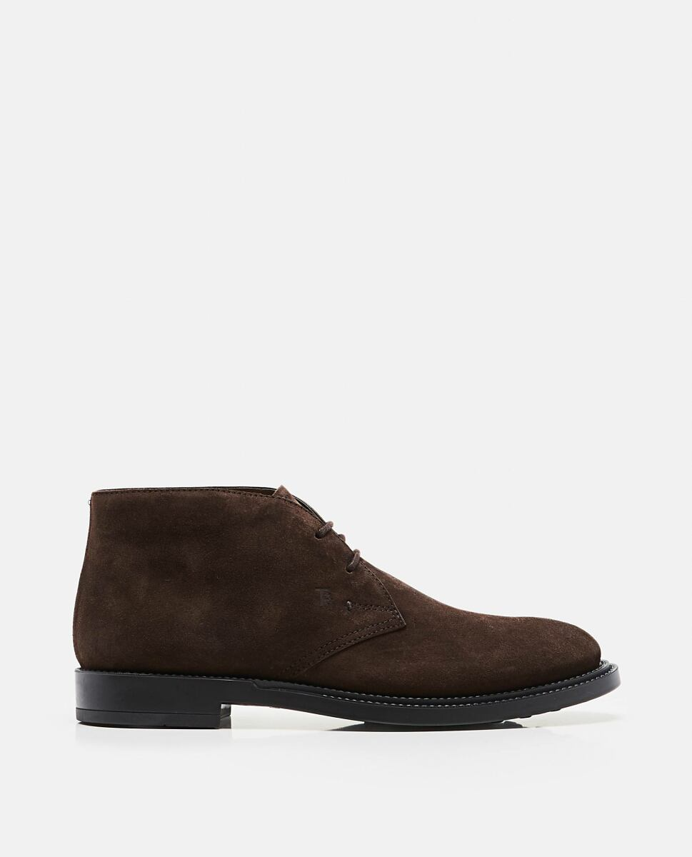Brown Suede ankle boot Tod's at Biffi DE MEN
