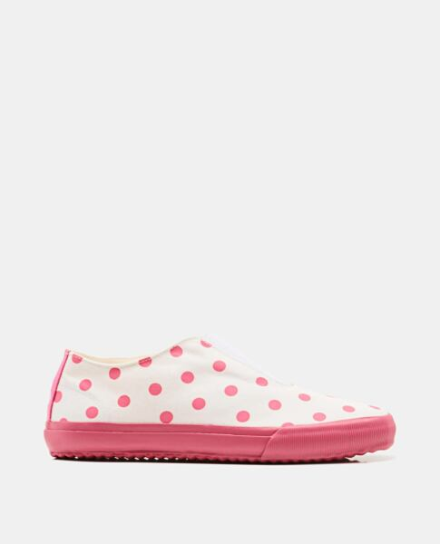 Comme des Garcons Pink Leather lace-up sneakers Biffi USA WOMEN