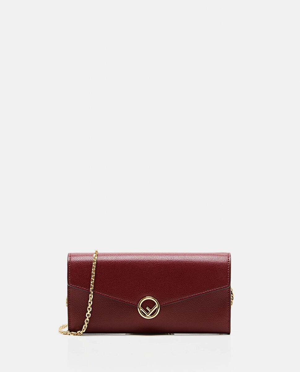 Red Continental wallet with chain Fendi at Biffi DE WOMEN