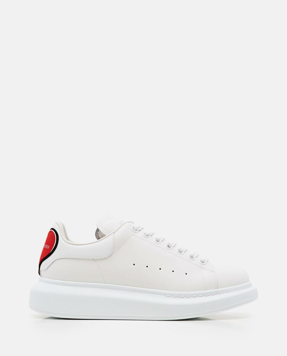 Alexander McQueen White OVERSIZE SNEAKERS WITH HEART PATCH Biffi USA WOMEN