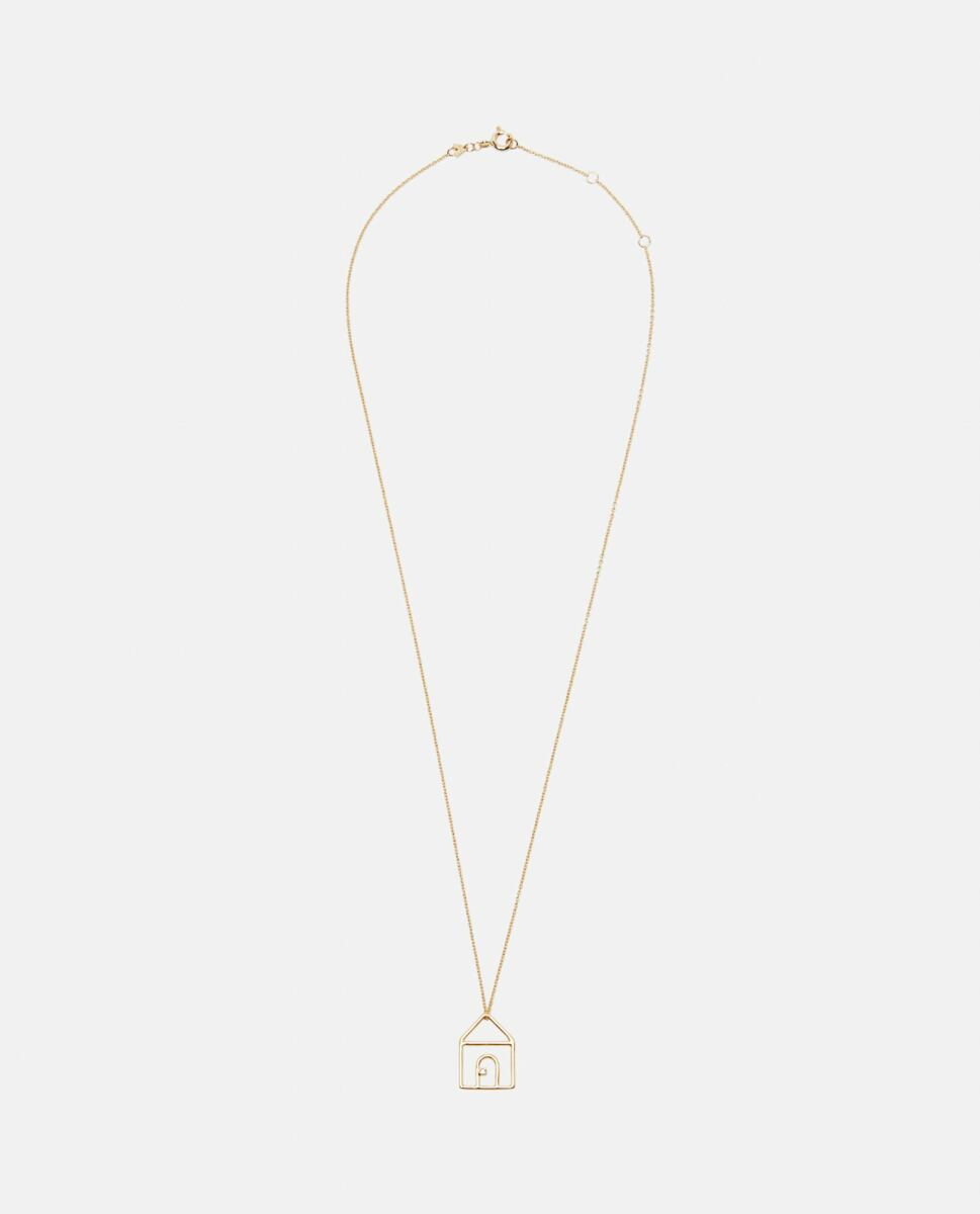 Aliita Gold Casita necklace with pendant in 9kt yellow gold and diamonds Biffi USA WOMEN