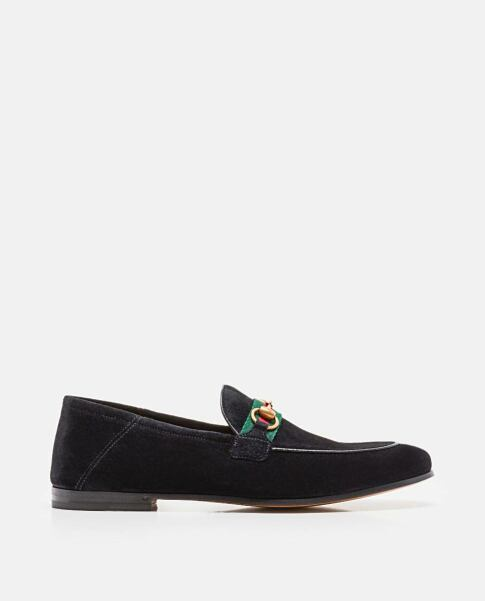 Gucci Suede moccasin with horsebit and Web Black Biffi UK MEN