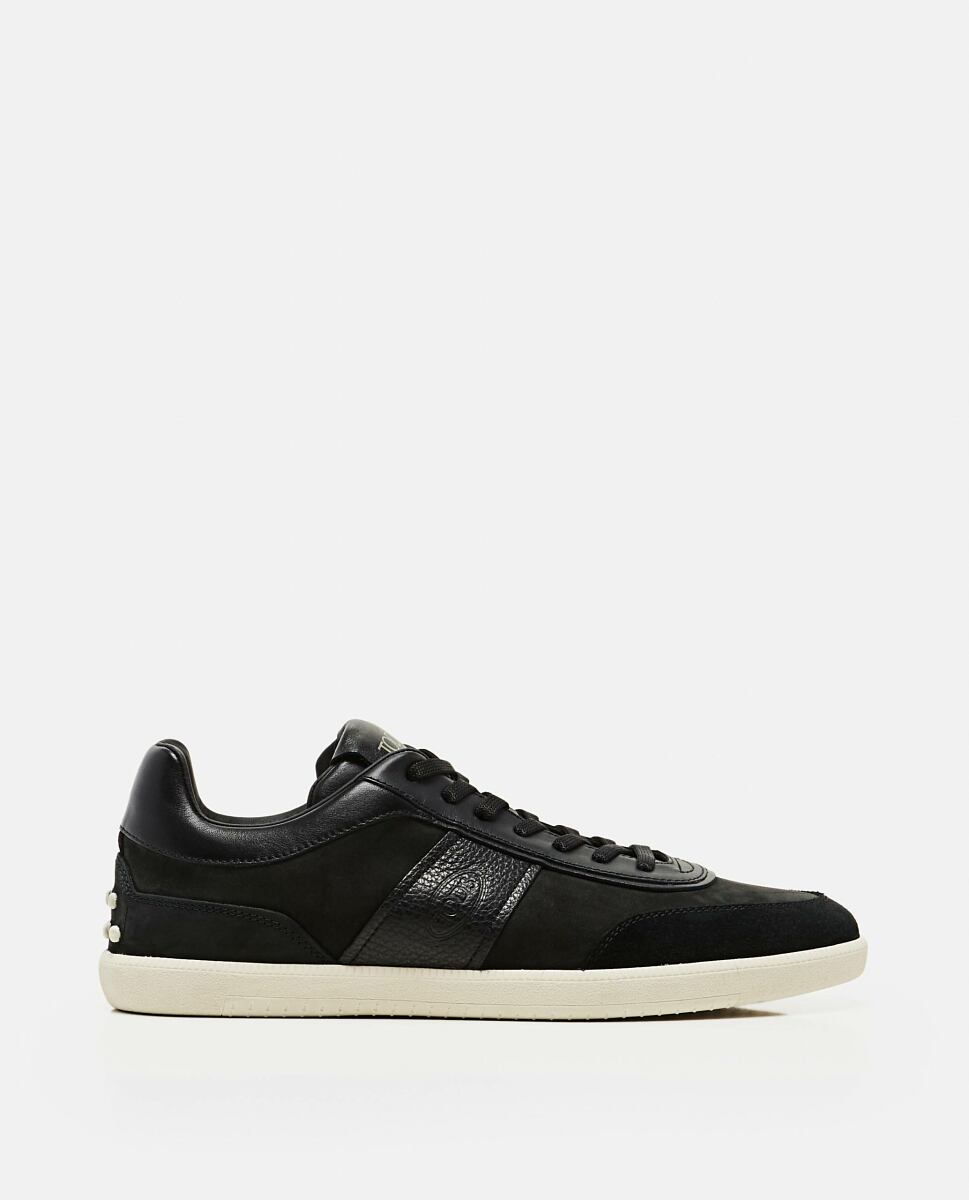 Tod's Black Lace-up sneakers in leather Biffi USA MEN