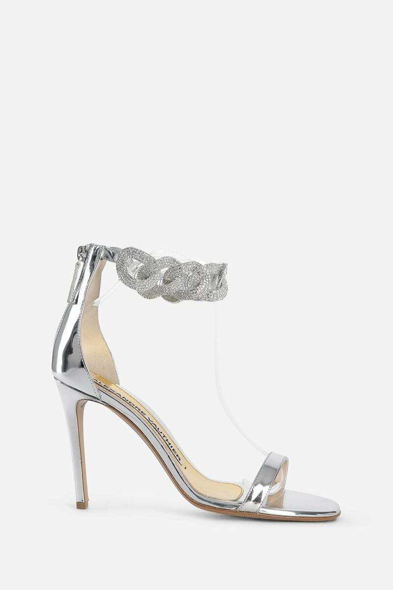 Alexandre Vauthier Women's Silver Vauthier Sandals Antonioli USA WOMEN Women SHOES Womens SANDALS