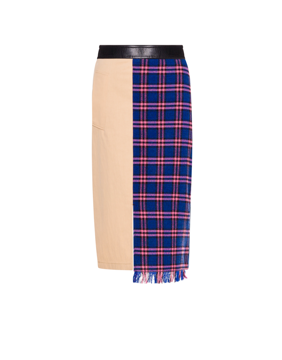 Boutique Moschino Women's Patchwork Midi Skirt Multicoloured WOMEN Women FASHION Womens SKIRTS