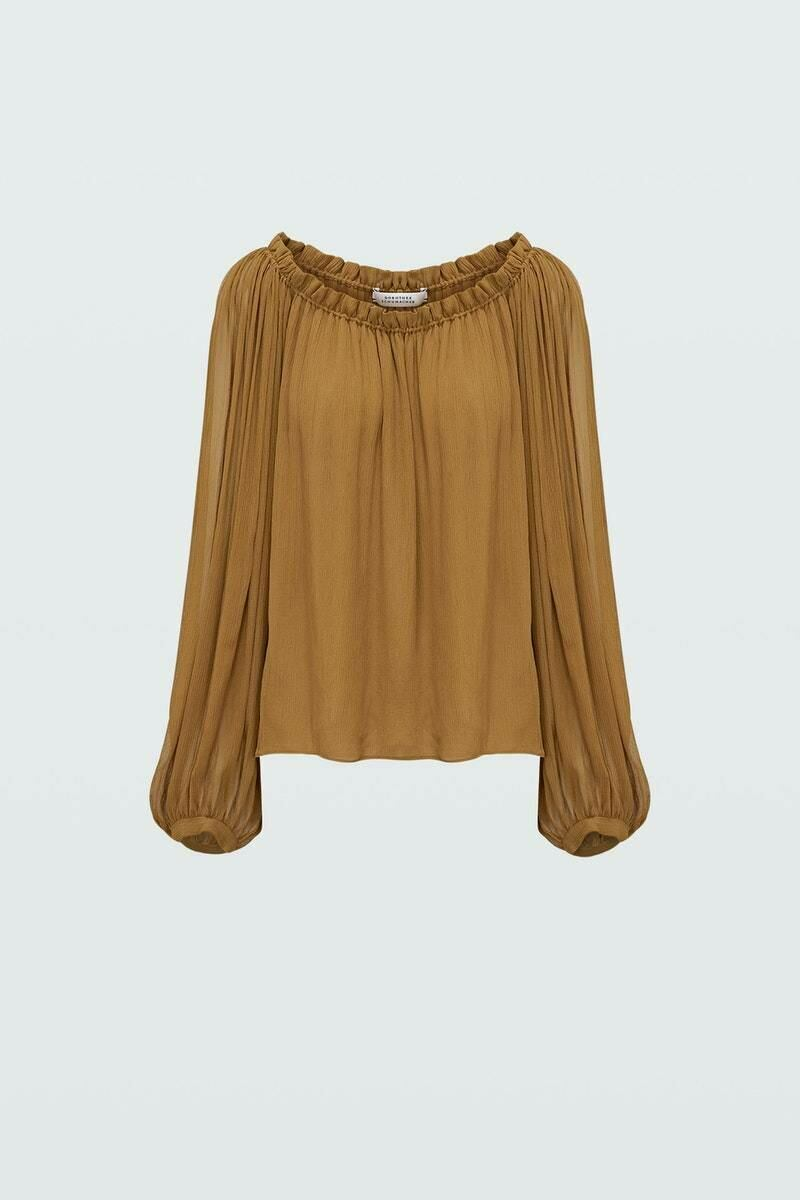 Dorothee Schumacher Woman Heat Blouse 0 Brown WOMEN Women FASHION Womens BLOUSES