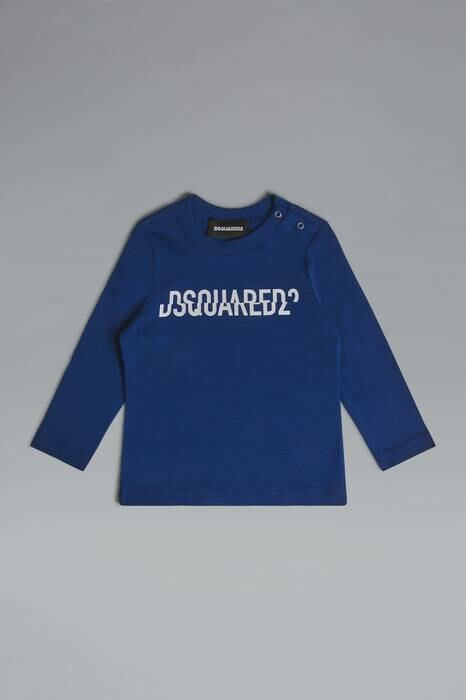 Dsquared2 Infant Long Sleeve T-Shirt Blue-3 100% Cotton MEN Men FASHION Mens T-SHIRTS