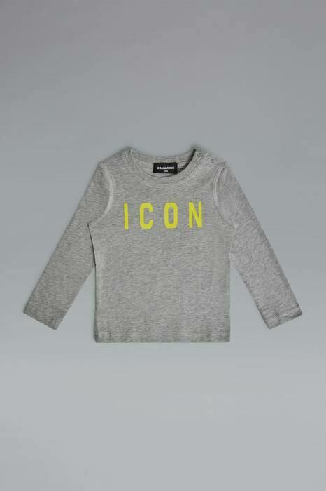 Dsquared2 Infant Long Sleeve T-Shirt Light Grey-3 100% Cotton MEN Men FASHION Mens T-SHIRTS