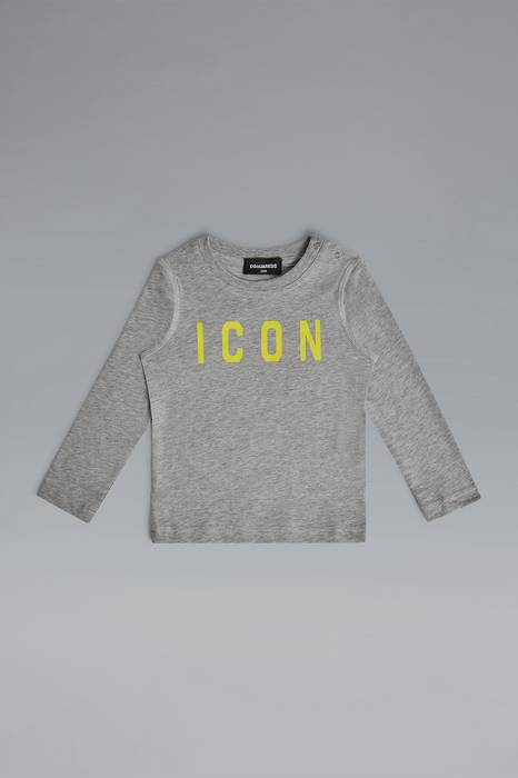 Dsquared2 Infant Long Sleeve T-Shirt Light Grey Size 24-36 100% Cotton MEN Men FASHION Mens T-SHIRTS