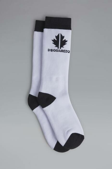 Dsquared2 Kids Ankle Socks White Size Iii 80% Cotton 18% Nylon 2% Elastane MEN Men ACCESSORIES Mens SOCKS