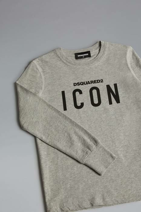 Dsquared2 Kids Long Sleeve T-Shirt Light Gray 100% Cotton MEN Men FASHION Mens T-SHIRTS
