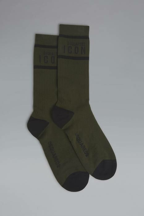 Dsquared2 UK Men's Ankle Socks Dark Green-5 76% Cotton 21% Polyamide 3% Elastane MEN Men ACCESSORIES Mens SOCKS