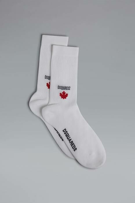 Dsquared2 UK Men's Ankle Socks White-9 74% Cotton 23% Polyamide 3% Elastane MEN Men ACCESSORIES Mens SOCKS