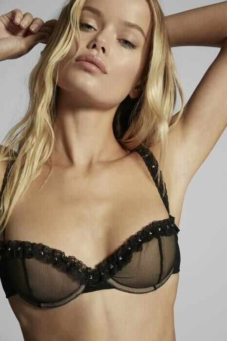 Dsquared2 UK Women's Bra Black 85% Polyamide 15% Elastane WOMEN Women FASHION Womens TOPS