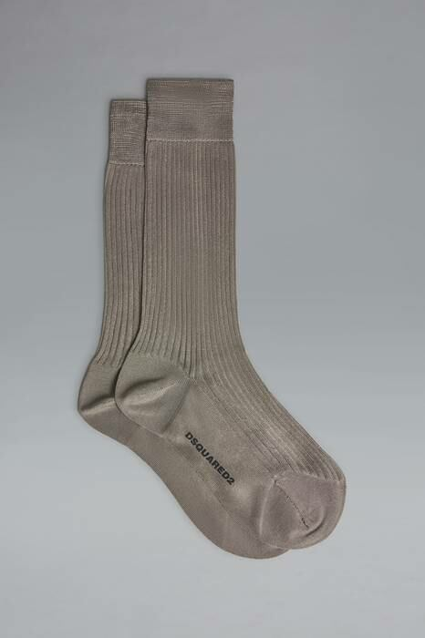 Dsquared2 USA Man Ankle Socks Grey Size 5-6 100% Silk MEN Men ACCESSORIES Mens SOCKS