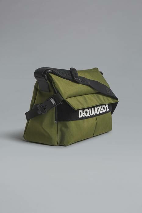 Dsquared2 USA Man Bag Military Green 91% Polyester 7% Polyurethane 2% Bovine Leather MEN Men ACCESSORIES Mens BAGS