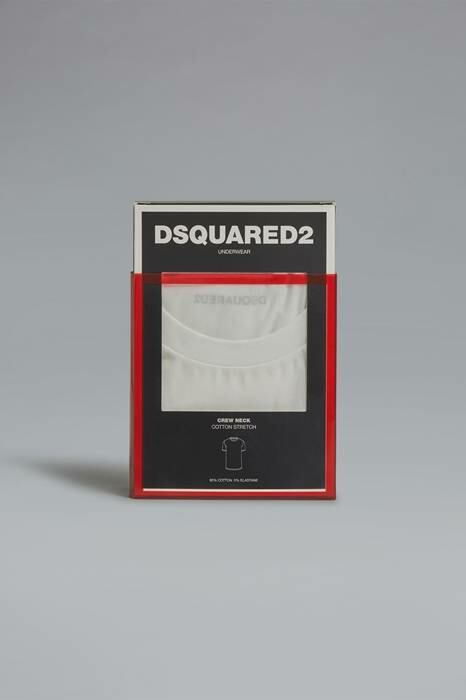 Dsquared2 USA Man T-Shirt Ivory 95% Cotton 5% Elastane MEN Men FASHION Mens T-SHIRTS