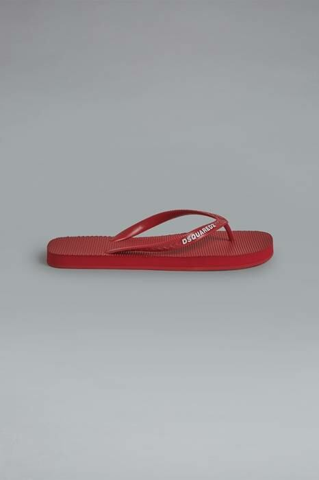 Dsquared2 USA Woman Flip Flops Red 100% Rubber WOMEN Women SHOES Womens SLIPPERS