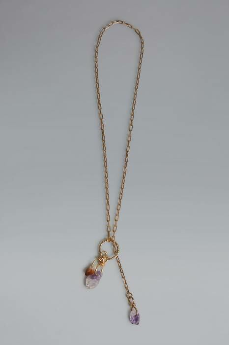 Dsquared2 USA Woman Necklace Gold 80% Brass 20% Tin Amethyst Citrine WOMEN Women ACCESSORIES Womens JEWELRY