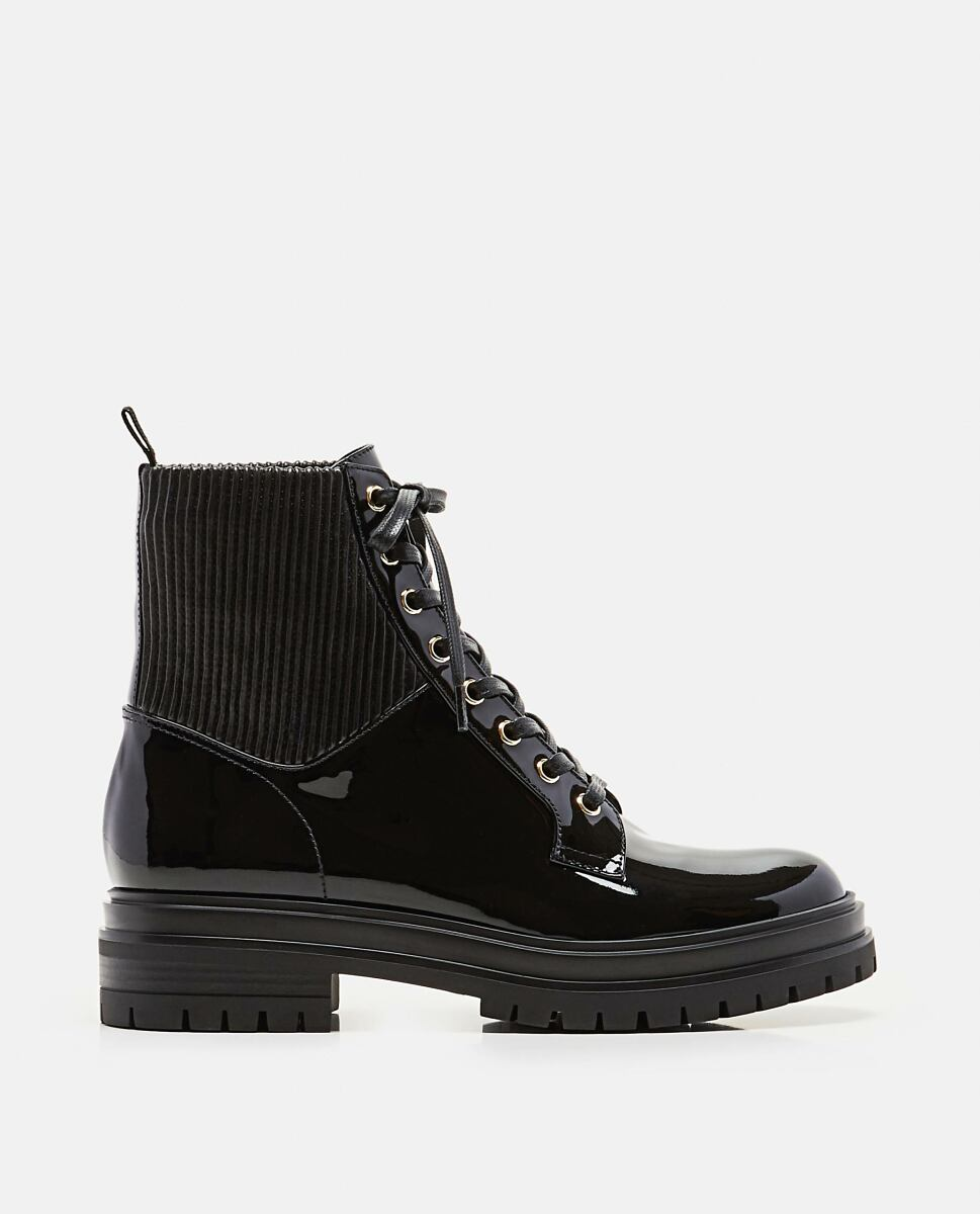 Gianvito Rossi Lace-up ankle boot Black Biffi UK WOMEN