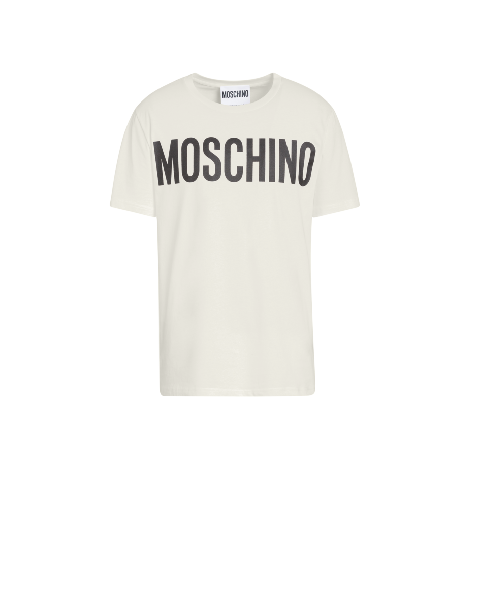 Moschino Men's Cotton T-Shirt With Logo White MEN Men FASHION Mens T-SHIRTS