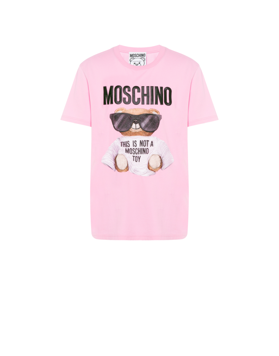 Moschino Men's Micro Teddy Bear Jersey Pink MEN Men FASHION Mens T-SHIRTS