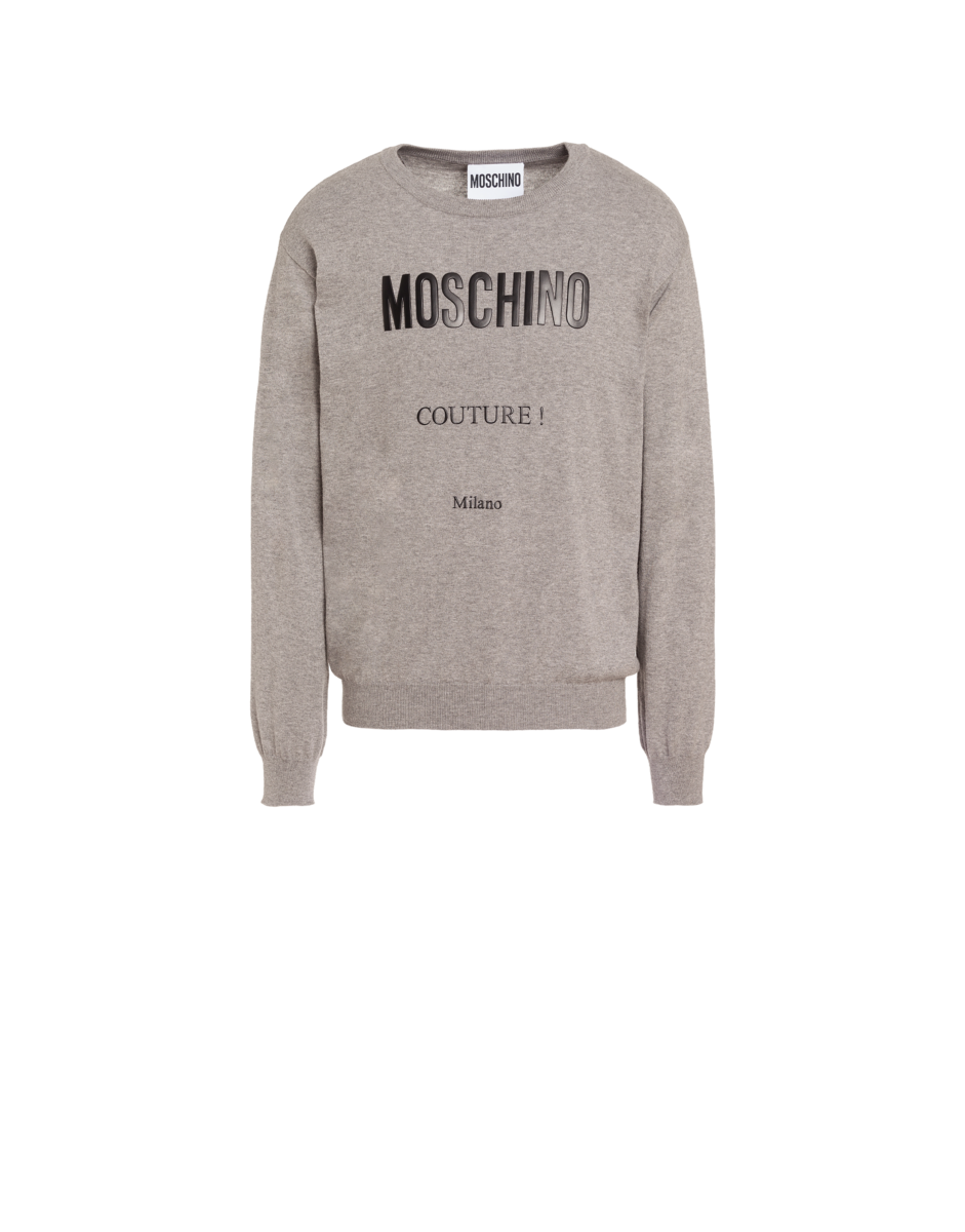 Moschino Men's Moschino Couture Cashmere And Grey MEN Men FASHION Mens SWEATERS